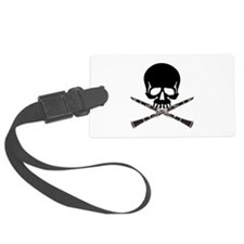 Skull with Clarinets Luggage Tag