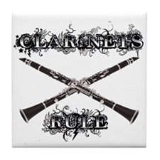 Clarinets Rule Tile Coaster