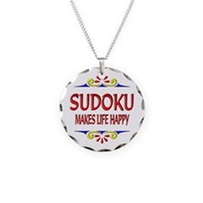 Sudoku Happy Life Necklace Circle Charm