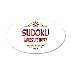Sudoku Happy Life 35x21 Oval Wall Decal