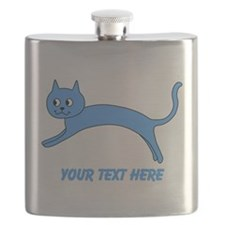 Jumping Blue Cat and Text. Flask