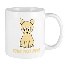 Cream Color Cat with Text. Mug