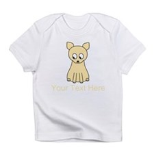 Cream Color Cat with Text. Infant T-Shirt