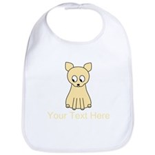 Cream Color Cat with Text. Bib