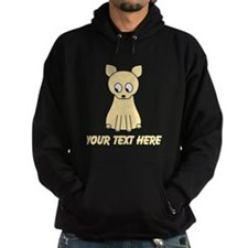 Cream Color Cat with Text. Hoodie