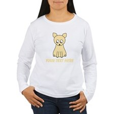 Cream Color Cat with Text. Long Sleeve T-Shirt