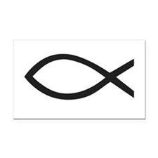 Christian Fish Symbol Rectangle Car Magnet