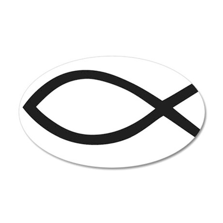 Christian Fish Symbol Wall Decal
