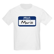 Hello: Mario Kids T-Shirt