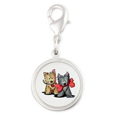 Cairn Duo Silver Round Charm