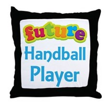 Future Handball Player Throw Pillow