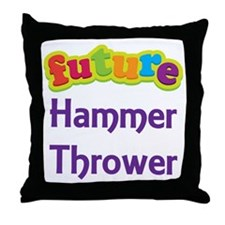 Future Hammer Thrower Throw Pillow