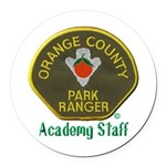 Orange County Ranger Academy Staff Round Car Magne