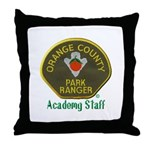 Orange County Ranger Academy Staff Throw Pillow