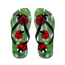 Funny Bugs and insects Flip Flops