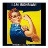 "Rosie Ironman Blackground Square Car Magnet 3"" x 3"