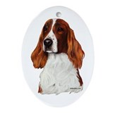 Irish Red & White Setter Ornament (Oval)