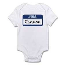 Hello: Cannon Infant Bodysuit