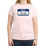 Hello: Jaron Women's Pink T-Shirt