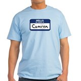 Hello: Camren Ash Grey T-Shirt