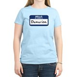 Hello: Damarion Women's Pink T-Shirt