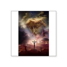 St Michael & The Crucifixion Rectangle Sticker