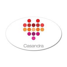 I Heart Casandra Wall Decal