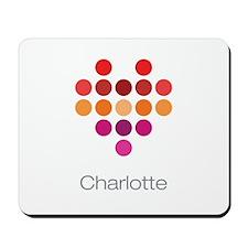 I Heart Charlotte Mousepad
