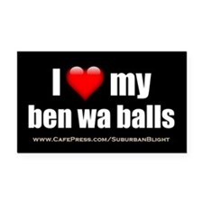 """Love My Ben Wa Balls"" Rectangle Car Magnet"