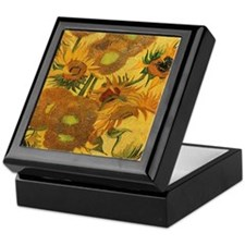 Sunflowers by Van Gogh Keepsake Box