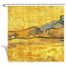 Wheatfield by Van Gogh Shower Curtain