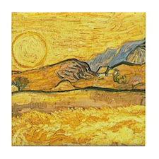 Wheatfield by Van Gogh Tile Coaster