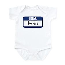 Hello: Tyrese Infant Bodysuit