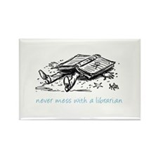 Cute Librarian Rectangle Magnet