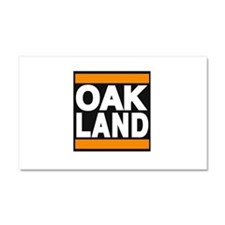 oakland orange Car Magnet 20 x 12