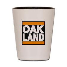 oakland orange Shot Glass