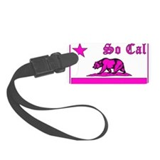 so cal bear pink Luggage Tag