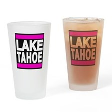 lake tahoe pink Drinking Glass