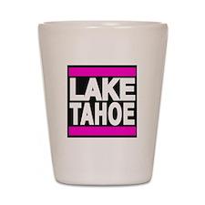 lake tahoe pink Shot Glass