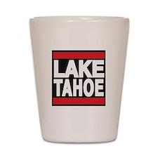 lake tahoe red Shot Glass