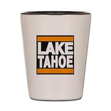 lake tahoe orange Shot Glass