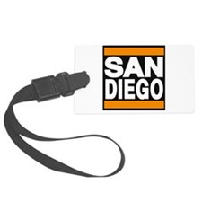 sandiego orange Luggage Tag