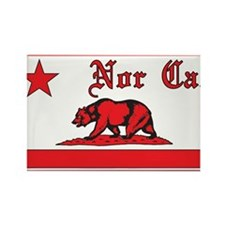 nor cal bear red Rectangle Magnet (100 pack)