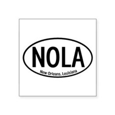 NOLA New Orleans, Louisiana Oval Sticker