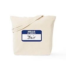 Hello: Yair Tote Bag