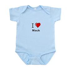 I love Mack heart tee Body Suit
