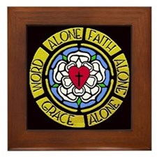 Grace Faith Word Framed Tile