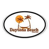 Daytona Beach - Palm Trees Design. Decal