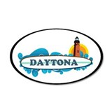 Daytona Beach - Surf Design. Wall Decal
