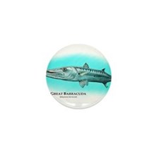 Cute Barracuda Mini Button (10 pack)